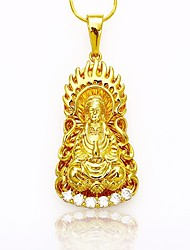 cheap -Men's / Women's Pendant Necklace / Chain Necklace - Gold Plated Faith Asian Gold Necklace For Daily