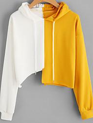 cheap -women's long sleeves hoodie - color block
