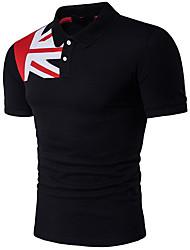 economico -T-shirt Per uomo Moda città Basic, Monocolore