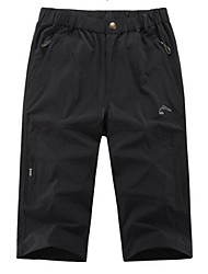 cheap -Men's Running 3/4 Capri Pants - Black, Army Green, Khaki Sports Shorts Fitness, Gym, Workout Activewear Quick Dry, Anatomic Design, Stretchy Stretchy