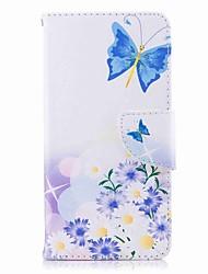 baratos -Capinha Para Huawei P9 lite mini P8 Lite (2017) Porta-Cartão Carteira Com Suporte Flip Estampada Capa Proteção Completa Borboleta Rígida