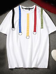Pánské - Duhová Tričko Bavlna Kulatý