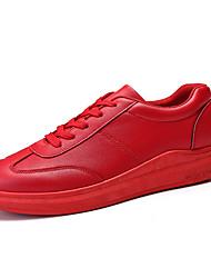abordables -Homme Chaussures Polyuréthane Printemps / Automne Confort Chaussures Bateau Marche Blanc / Noir / Rouge