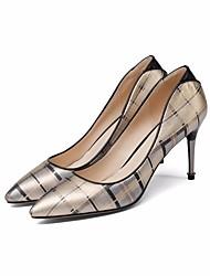 preiswerte -Damen Schuhe Leder Nappaleder Frühling Herbst Pumps Komfort High Heels Stöckelabsatz für Normal Gold