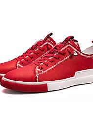 Недорогие -Муж. Полиуретан Весна / Осень Удобная обувь Кеды Белый / Черный / Красный