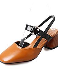Недорогие -Жен. Обувь Полиуретан Осень Удобная обувь На плокой подошве На плоской подошве Заостренный носок Бант Бежевый / Коричневый