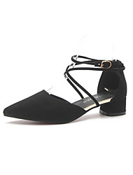 cheap -Women's Shoes PU Spring Summer Comfort Flats Flat Heel Pointed Toe for Party & Evening Dress Black Pink Light Brown