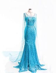 Inspirirana Poklade Frozen Anime Cosplay nošnje Cosplay Suits Dresses Na točkice Dugih rukava Haljina Za Žene
