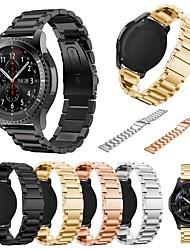 abordables -Bracelet de Montre  pour Gear S3 Classic Samsung Galaxy Bracelet Sport Métallique Sangle de Poignet