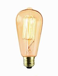 abordables -1pc 40W E26/E27 ST64 Jaune chaud 2000 K Décorative Ampoule incandescente Edison Vintage 110-120V 220-240V