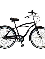 cheap -Cruiser Bike Cycling 1 Speed 26 Inch Bike Side-pull Caliper Brake Non-Damping Ordinary PVC PVC/Vinyl Steel Tube Aluminum Alloy
