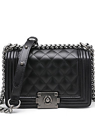 cheap -Women's Bags PU Shoulder Bag Embossed Black