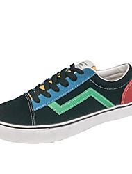 abordables -Homme Chaussures Toile Printemps / Automne Confort Basket Noir / noir / vert / Blanc et vert