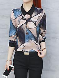 cheap -Women's Business Street chic Blouse - Floral, Print Shirt Collar