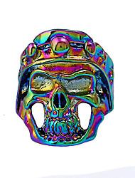 economico -Per uomo Anello di dichiarazione , Colorato Fantastico Rock Lega Teschio Bigiotteria Bar Serata