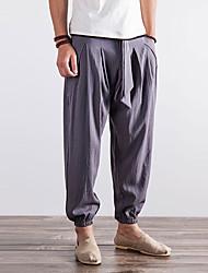 economico -normale aumento medio degli uomini>75% harem pants, vintage in cotone massello di lino fibra di bambù acrilico primavera