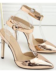 preiswerte -Damen Schuhe PU Frühling Herbst Pumps Komfort High Heels Stöckelabsatz für Gold Silber