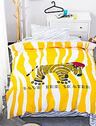 cheap -Duvet Cover Sets Cartoon 3 Piece Poly/Cotton 100% Cotton Reactive Print Poly/Cotton 100% Cotton 1pc Duvet Cover 1pc Sham 1pc Flat Sheet