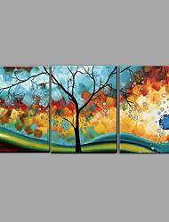 abordables -Peinture à l'huile Hang-peint Peint à la main - Abstrait Nature morte Contemporain Moderne Toile
