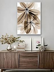cheap -Floral/Botanical Botanical Illustration Wall Art, Plastic Material With Frame For Home Decoration Frame Art Living Room
