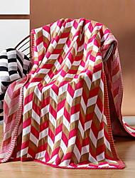Недорогие -Другое, Активный краситель Геометрический принт Хлопок одеяла