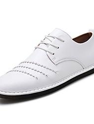 baratos -Homens sapatos Couro / Couro Ecológico Primavera / Verão Conforto / Solados com Luzes Mocassins e Slip-Ons Preto / Vermelho / Khaki