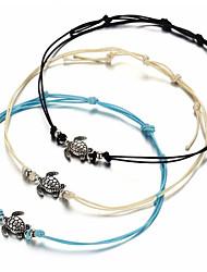 abordables -Bracelet de cheville - Tortue Mode Blanc / Noir / Bleu Pour Quotidien / Femme
