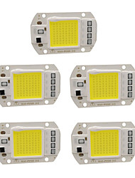 cheap -5pcs 220 V Input Smart IC / for DIY LED Flood Light Spotlight LED Chip Aluminum 50 W
