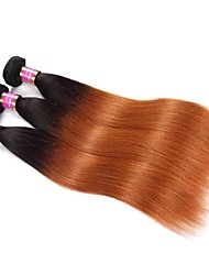Недорогие -Не подвергавшиеся окрашиванию Remy плетение волос Для темнокожих женщин Парик в афро-американском стиле Прямой Бразильские волосы Связки