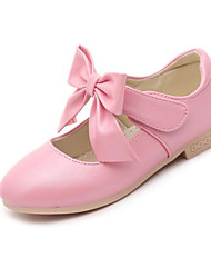 cheap -Girls' Shoes Leatherette Spring Fall Tiny Heels for Teens Comfort Heels for Casual Gold White Pink