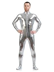 """Недорогие -Костюмы на все тело """"зентай"""" Ниндзя Костюмы зентай Косплэй костюмы Серебряный Однотонный Костюмы зентай Спандекс клей Муж. Жен. Хэллоуин"""