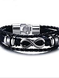 billige -Herre Geometrisk Kæde & Lænkearmbånd - Mode Armbånd Sort Til Gave / Daglig