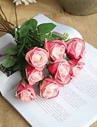 abordables -Fleurs artificielles 5 Une succursale Rustique / Style Simple Roses Fleur de Table