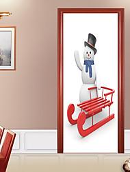 economico -Forma Natale Adesivi murali Adesivi 3D da parete Holiday Wall Stickers Adesivi decorativi da parete Adesivi per porte, Vinile Carta