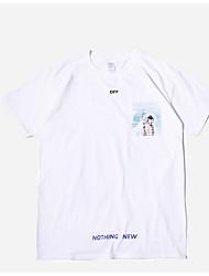 Herre - Geometrisk Bogstaver T-shirt
