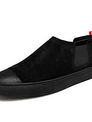 Недорогие -Муж. обувь Свиная кожа Весна Осень Удобная обувь Мокасины и Свитер для Повседневные Офис и карьера Черный Черно-белый