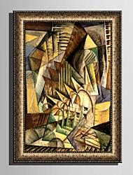 Недорогие -Абстракция Иллюстрации Предметы искусства, Пластик материал с рамкой For Украшение дома Предметы искусства в рамках Гостиная