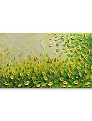Недорогие -Ручная роспись Абстракция Цветочные мотивы/ботанический Горизонтальная, Современный Modern холст Hang-роспись маслом Украшение дома 1