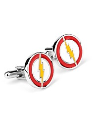 cheap -Non-personalized Chrome Cufflinks Groom Groomsman Wear to work Daily Wear