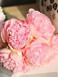 abordables -Fleurs artificielles 5 Une succursale Mariage / Fleurs de mariage Pivoines Fleur de Table