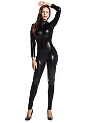 """Недорогие -Костюмы на все тело """"зентай"""" Ниндзя Костюмы зентай Косплэй костюмы Черный Однотонный Костюмы зентай Спандекс клей Муж. Жен. Хэллоуин"""