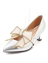 Недорогие -Жен. Обувь Лакированная кожа Весна Лето Оригинальная обувь Удобная обувь Обувь на каблуках На каблуке-рюмочке Заостренный носок Стразы
