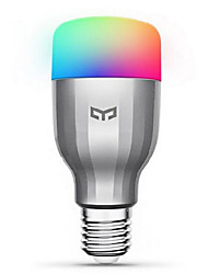 abordables -xiaomi yeelight 220v e27 intelligent led ampoule16 millions de couleurs wifi permis de travail avec amazon alexa / google home