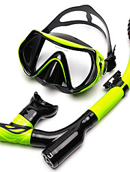 cheap -Snorkels Diving Packages Diving Mask Antifog Swimming Diving Snorkeling Silicone
