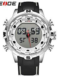 Недорогие -WEIDE Муж. Модные часы Спортивные часы Японский Цифровой Календарь Защита от влаги Крупный циферблат С двумя часовыми поясами ЖК экран