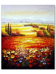 economico -Hang-Dipinto ad olio Dipinta a mano - Astratto Paesaggi Contemporaneo Modern Tela