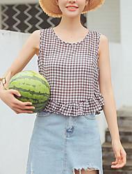 preiswerte -Damen Solide-Grundlegend T-shirt