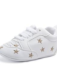 Недорогие -Девочки Обувь Дерматин Весна / Осень Удобная обувь / Обувь для малышей / Пинетки На плокой подошве На эластичной ленте для Черный /