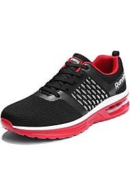 baratos -Mulheres Sapatos Tule Primavera Outono Conforto Tênis Fitness Sem Salto Dedo Fechado para Casual Ao ar livre Branco Preto Fúcsia