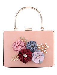 cheap -Women's Bags PU Evening Bag Pearls / Flower for Wedding / Event / Party Red / Blushing Pink / Drak Red